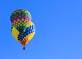 Hot air balloons colorful over blue sky Royalty Free Stock Photos