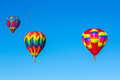 Hot air balloons colorful over blue sky albuquerque balloon festival Stock Image