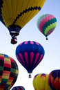 Hot Air Balloons At Dawn At The Albuquerque Balloon Fiesta Royalty Free Stock Photo