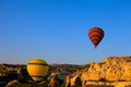 Hot air balloons in early morning turkey cappadocia goreme Stock Photos