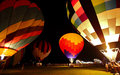 Hot Air Balloons Glow Night Royalty Free Stock Photo