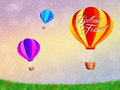 Hot air balloons illustration of festival Royalty Free Stock Image