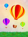 Hot air balloons illustration of festival Stock Photo