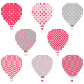Hot Air Balloons Patterns Royalty Free Stock Photo