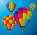 Hot air balloons in the sky Royalty Free Stock Photos