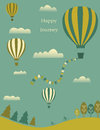 Hot air balloons in the sky. Stock Photography
