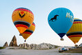 Hot air balloons take off in goreme cappadocia turkey may on may the big attraction is the Royalty Free Stock Image