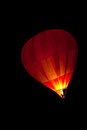 Hot air baloon a balloon at night Royalty Free Stock Photography