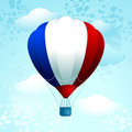 Hot air baloon with French colors Royalty Free Stock Images