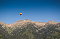Hot air baloon in wyoming near jackson hole Stock Photos