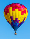 Hot air baloons colorful balloons over blue sky albuquerque balloon festival Royalty Free Stock Photos