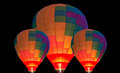 Hot air baloons it is truly an unbelievable and amazing sight to see all of the balloons go up at one time Royalty Free Stock Photography
