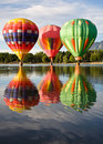 Hot Air Triumvirate Stock Photography