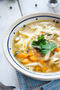 Hot and alible chicken soup photo of Stock Photos