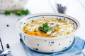 Hot and alible chicken soup photo of Royalty Free Stock Photo