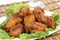 Hot Barbecued Wings Stock Images