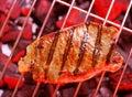 Hot  beefsteak. Royalty Free Stock Photo