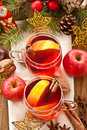Hot beverage for christmas with winter spices Royalty Free Stock Photography