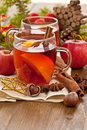 Hot beverage for christmas with winter spices Stock Photography