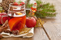 Hot beverage for christmas with winter spices Stock Image