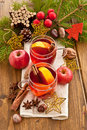 Hot beverage for christmas with winter spices Royalty Free Stock Images