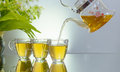 Hot brewing herbal teas from nature Royalty Free Stock Photo