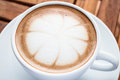 Hot cafe mocha cup with milk microfoam on topped Stock Photography