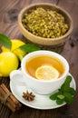 Hot chamomile tea Royalty Free Stock Photo