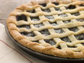 Hot Cherry Lattice Pie Stock Image