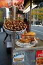 Hot Chestnuts on a New York City Street Royalty Free Stock Photos