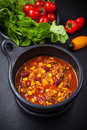 Hot chilli con carne Stock Image