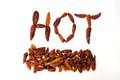 Hot chilli dried red peppers Stock Photos