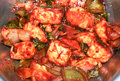 Hot chilli paneer and saucy version of cottage cheese cooked in spicy indian style Royalty Free Stock Photos