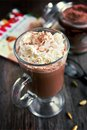 Hot chocolate with cream Stock Image