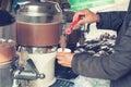 Hot Chocolate Machine Royalty Free Stock Photo