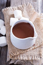 Hot chocolate in a pot Royalty Free Stock Photo