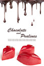 Hot chocolate pralines Stock Images
