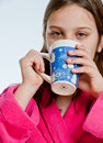 Hot Chocolate Sip Stock Image