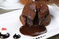Hot Chocolate Souffle Royalty Free Stock Photo