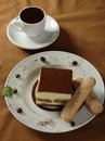 Hot chocolate and tiramisu Royalty Free Stock Photos