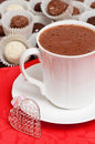 Hot Chocolate Valentine Drink Stock Photography
