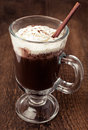 Hot chocolate with whipped cream Royalty Free Stock Image