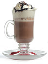 Hot chocolate with whipped cream isolated Stock Photo