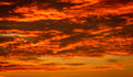 Hot cloudscape clouds and sky at sunset time Royalty Free Stock Photos