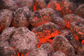 Hot coals Royalty Free Stock Photo
