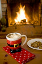 Hot cocoa by the fire Royalty Free Stock Photos