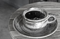 Hot coffee black and white Royalty Free Stock Photo