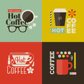 Hot coffee collection of vector design elements beautiful Stock Photos