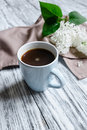 Hot coffee in a cup Royalty Free Stock Photo