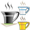 Hot coffee cups Stock Photo